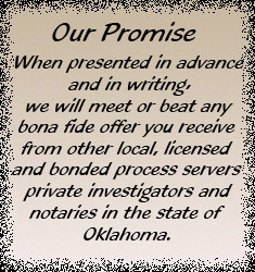 Oklahoma Process Server Promise